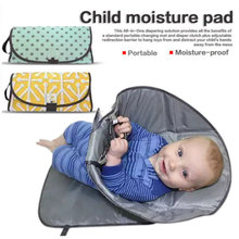 Multifuctional Baby Changing Mat 3-in-1 Waterproof Portable Napping Changing Cover Pads Infant Travel Outdoor Baby Diaper Bag