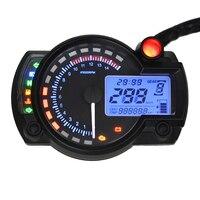 Dewtreetali 15000 rpm Motocicleta Digital Medidor de Luz Digital Velocímetro Tacómetro Odómetro de La Motocicleta Ajustable Instrumento