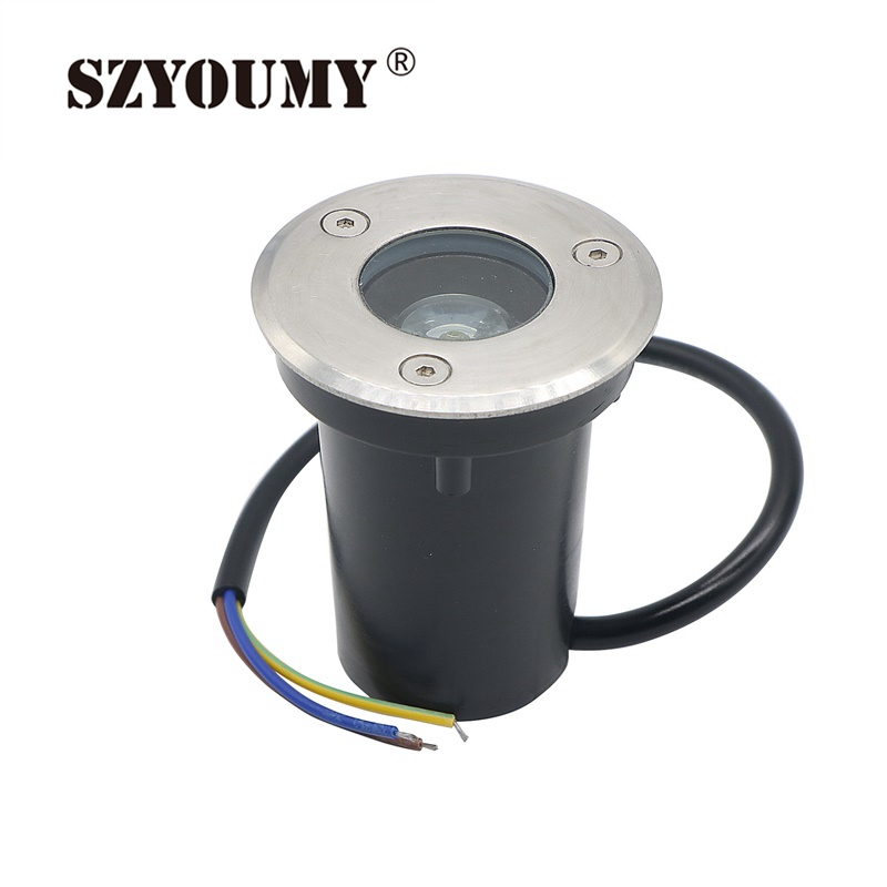 Szyoumy Ip67 Waterproof 1w Ac 85-265v Dc12 Led Underground Light Outdoor Garden Floor Underground Buried Spot Landscape Lamps Luxuriant In Design Lights & Lighting Led Lamps
