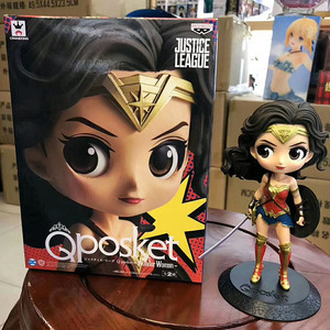 Image 4 - Disney Q Posket Figures Toy Harley Quinn Suicide Squad Wonder Woman Avengers Endgame Model Dolls Gift for Children