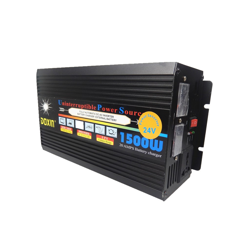 1500W UPS Power inverter 24V to 220V Modified Sine Wave Inverter With Battery Charger+UPS Function Supply For Multi-Device dc12v 24v to ac220v ups power inverter 50hz 600w modified sine wave inverter with 10a battery charger