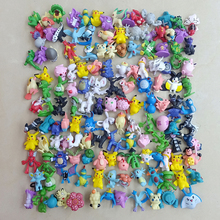 144 Pcs 2-3cm Pokeball Cute Monster Mini model Pikachu action figure Toys Random Delivery Anime Christmas Kids Gifts Toys цена 2017