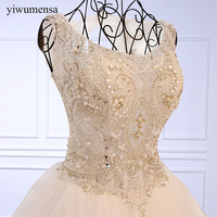 Yiwumensa Vestido De Noiva Luxury High Grade Beaded Vintage Ball Gown Wedding Dresses 2018 Wedding Gowns
