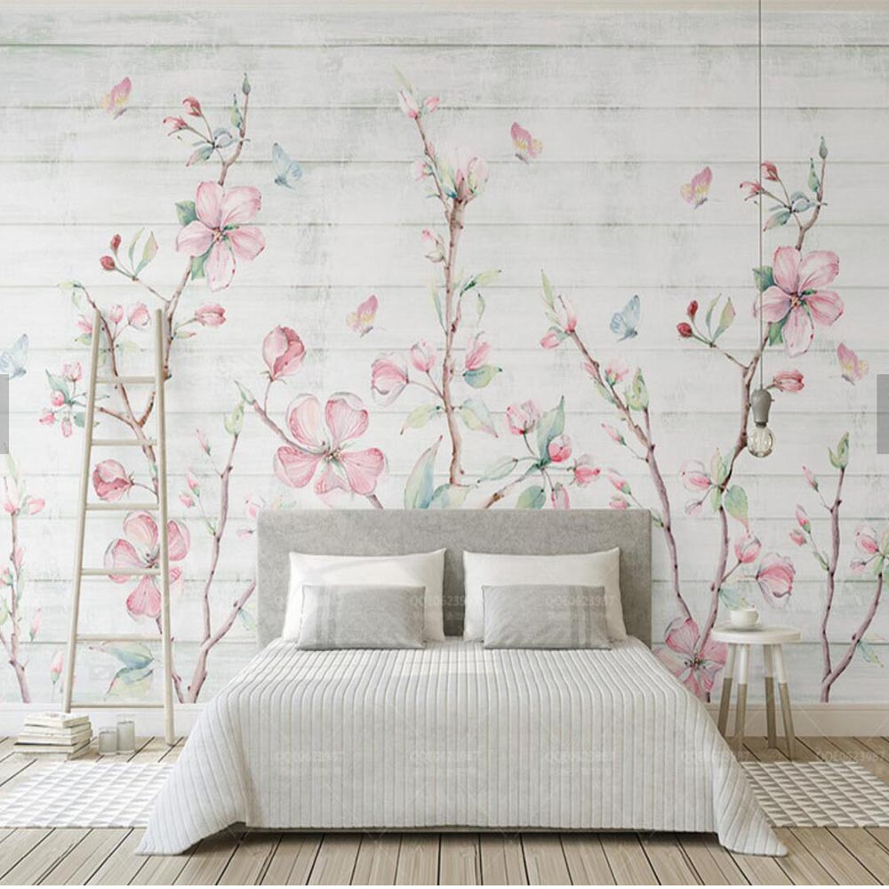 Colorful Sakura Oriental Cherry Blossom Flower Mural Photo