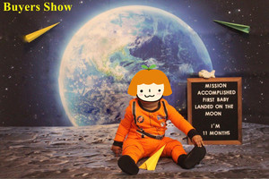 Image 4 - Laeacco Universe Backdrops Space Moon Surface Earth Baby Portrait Photography Backgrounds Birthday Photocall For Photo Studio