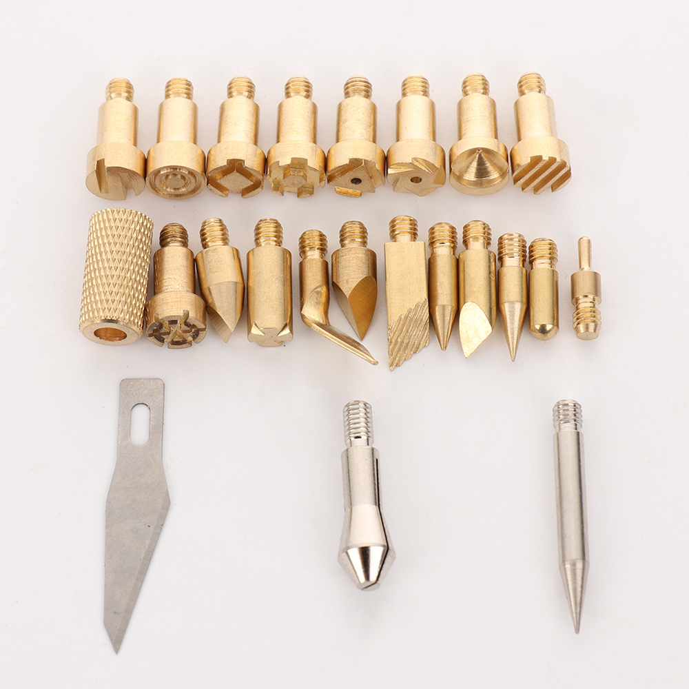 Carving Soldering Iron Wood Engraving Pen Kit Welding Repair Tool with 23 Tips Wood Burning Drawing Tips Woodworking Craft