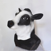 Hot selling Realistic Animal Mask Full Overhead Cow Head for Halloween Party