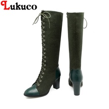 2018 sweet lace-up boots large CN size 40 41 42 43 44 45 46 47 48 round toe design women sexy shoes real pictures free shipping