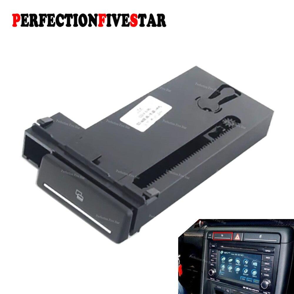 8E1941561C For Audi B6 B7 A4 S4 2001 2008 Automobile Card Slot Storage Box Holder Pop Out Tray Dashborad LHD ONLY 8E1 941 561E