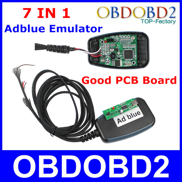 Professional 7In1 ADblue Emulator For Heavy Duty Truck With Programming Adapters Works For 7 Brands Trucks AD Blue Removal Tool