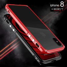 Hybrid Heavy Duty Defender Metal Frame Alloy Frame Bumper Cases for Shockproof Back Cover for iPhone 8 8 Plus 7 Plus