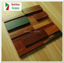 1 Box (11sheet) New Vintage wood mosaic tiles home walls decoration material backsplash 3D panels tile Size 30*30cm