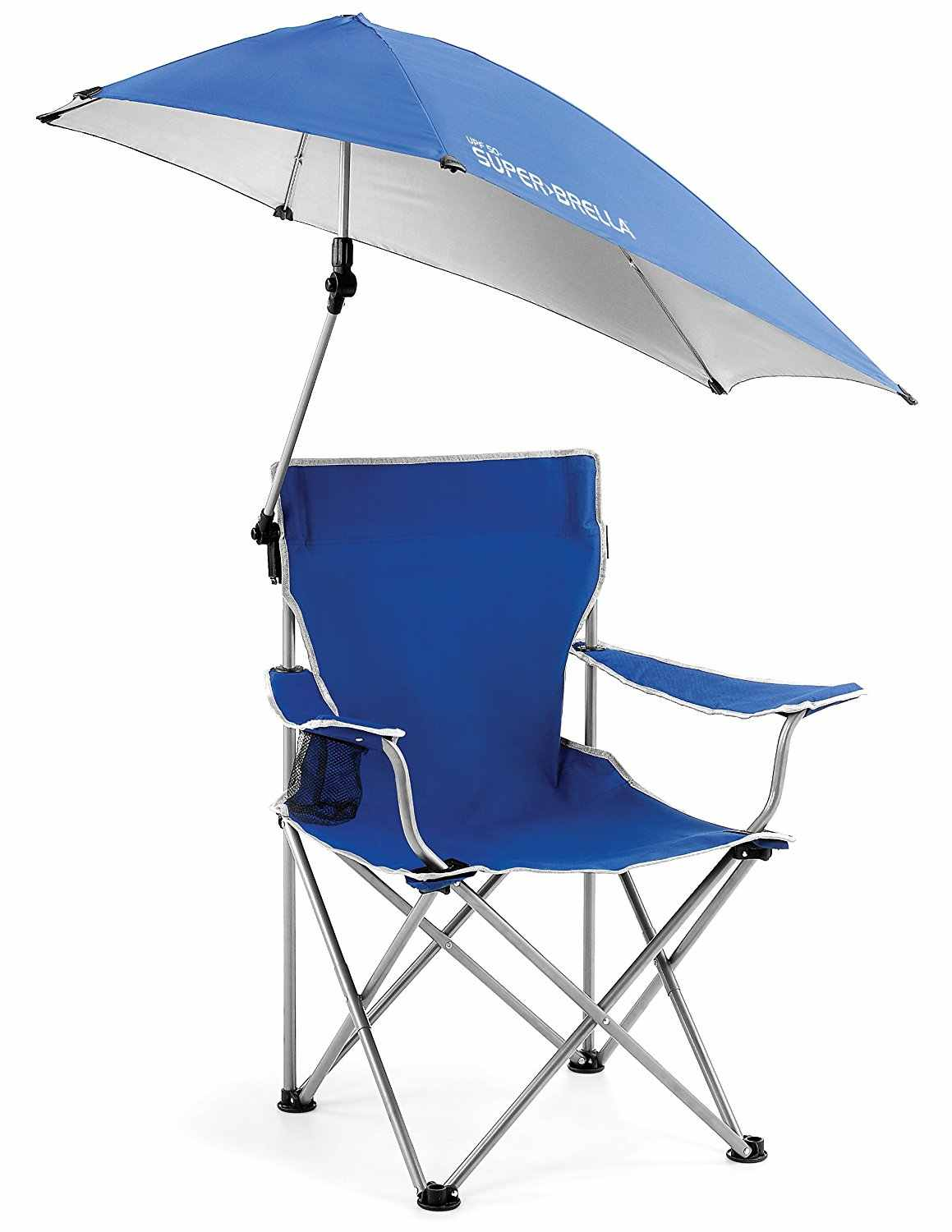 Outdoor Quik Shade Adjustable Canopy Folding Camp Chair Portable Fishing Camping Reclining Lounging Chair Heavy Duty 100kg