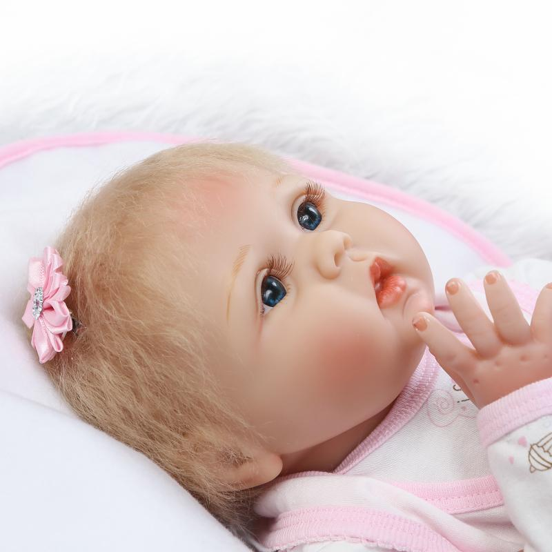 Doll Baby D054 55CM 22inch NPK Doll Bebe Reborn Dolls Girl Lifelike Silicone Reborn Doll Fashion Boy Newborn Reborn Babies цена