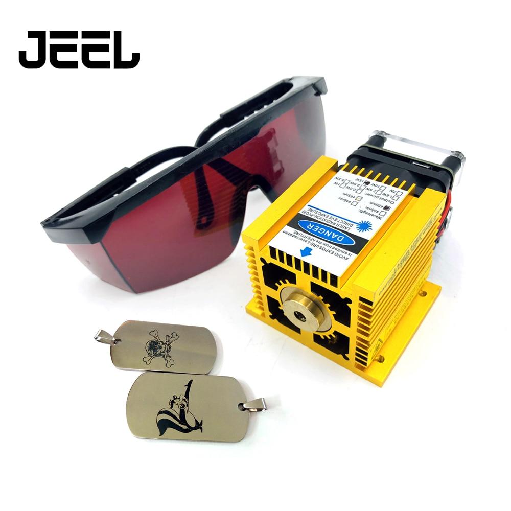 450nm 15000mW 12V Foco Fixo Laser Diode Module TTL/PWM de Marcação de Aço Inoxidável DIY Cortador de Laser Gravadora 15W