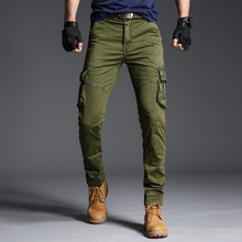 New Spring Fashions Men Cargo Pants Casual Mens Multi Pocket Military Overall Outdoors Long Trousers Sweatpants Track 40