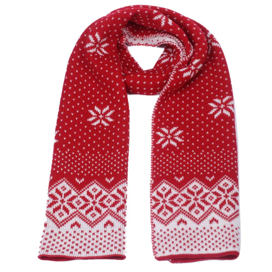 Good Deal New Lady Women Christmas Snowflake Scarf Warm Thick Winter Shawl Xmas Soft Scarves Gift 1PC