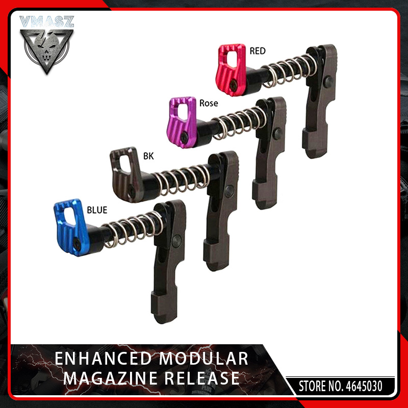 VMASZ NEW CNC Machine Double Side (left & Right Hand) Magazine Release Catch For M4/M16 Series AEG Paintball Accessory