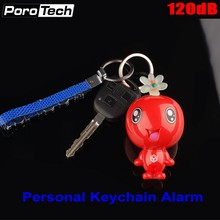 Wholesale 120dB Super Loud Personal Safety Alarm Mini Cute Key Chain Alarm Emergency Panic Alarm for students women Girls Kids