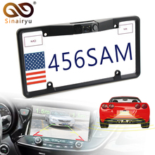 Sinairyu Canada USA American License Plate Frame Video Parking Sensor Car Reaview Backup Reversing font b