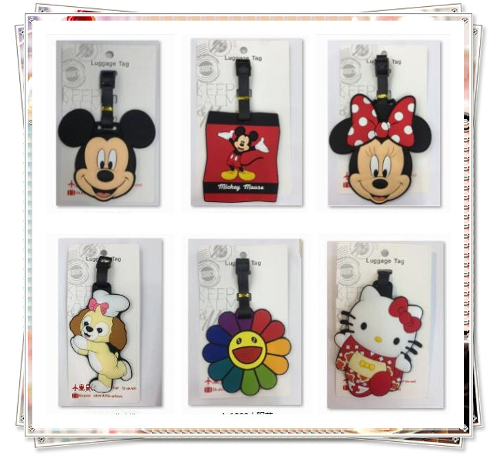 IVYYE Mickey Minnie Anime Travel Accessories Luggage Tag Suitcase ID Address Portable Tags Holder Baggage Labels New