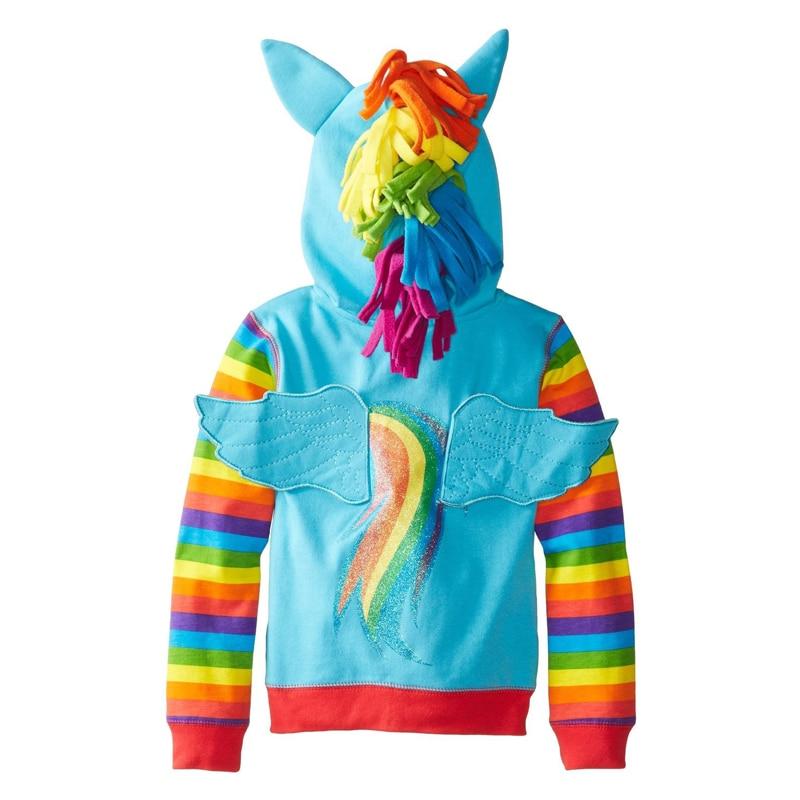 Girls Jackets My Children Hoodies Sweatshirt Baby Little Pony Clothing Girl Spring Autumn Jacket Coat Kids Casual hood Outwear 2