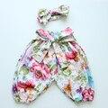 Meninas Harem Pants Calças de flores Para Criança outono do bebê calças Do Bebê Crianças Roupas Crianças Calças Calças Para Meninos Das Meninas