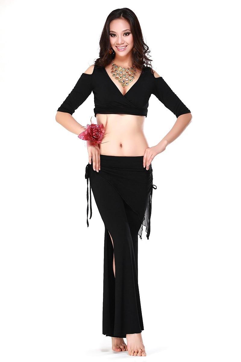 Nuevo estilo traje de danza del vientre conjunto sexy seda seda top + - Novedad