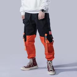 Модные уличные штаны для мужчин осень 2019 г. мужские брюки спортивные штаны хип хоп шаровары Джоггеры мужские брюки