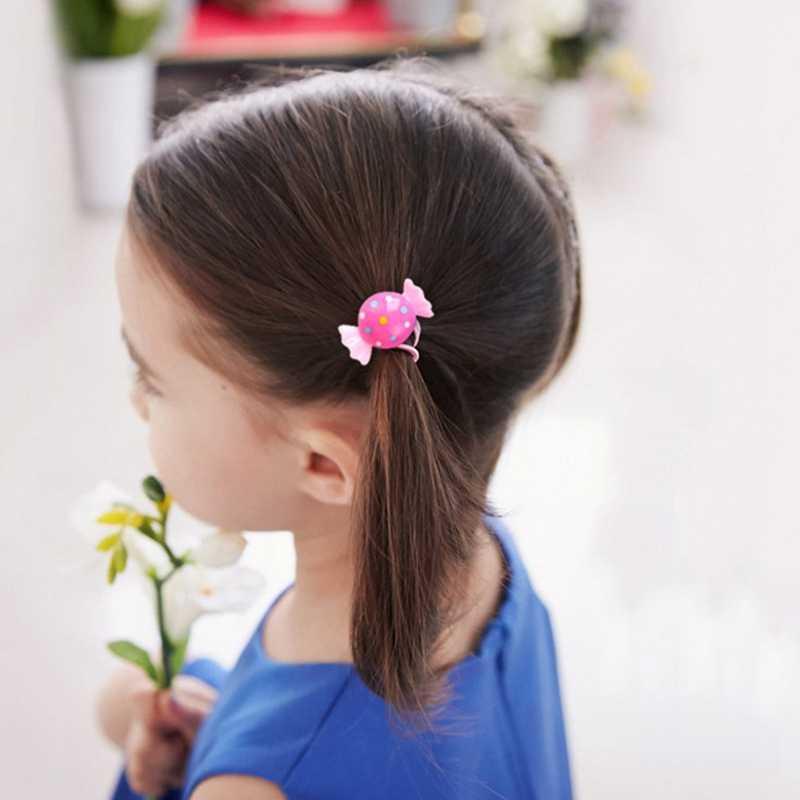 2 шт./пара волос Резиновые банда с любимыми персонажами из мультфильмов; резинка для волос, обтянутая тканью; веревки детская Headbanda принцессы хвост держатель женские аксессуары для волос