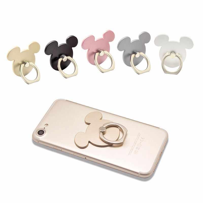 Kot mysz desgin palec na telefon komórkowy, z pierścieniem stojak na smartphone gniazdo uchwytu na inteligentny telefon stojak do montażu samochodu