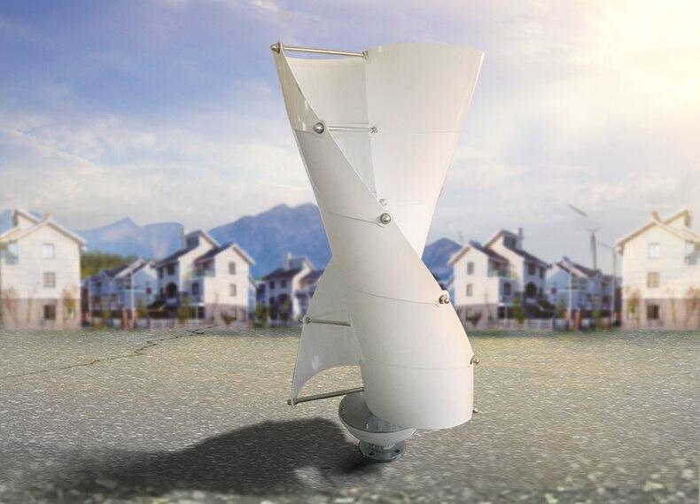 100W200W300W400W 12 V/24 V petite éolienne générateur VAWT axe Vertical usage résidentiel avec contrôleur de chargeur
