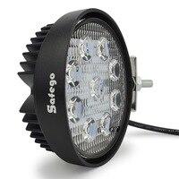 Safego 4 Inch 27 W LED העבודה מבול אור ערפל offroad טרקטורונים 4x4 הנהיגה מנורת 12 V לטריילר אופנועים טרקטור משאית סירת SUV 4WD