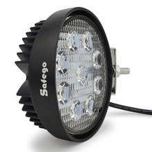 Safego 4 Inch 27W LED Arbeit Licht Flut Nebel offroad ATV 4x4 Driving Lampe 12V für motorrad Traktor Lkw anhänger SUV Boot 4WD