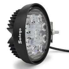 Safego 4 pulgadas 27W LED luz de trabajo niebla de inundación offroad ATV 4x4 lámpara de conducción 12V para motocicleta Tractor camión remolque SUV barco 4WD