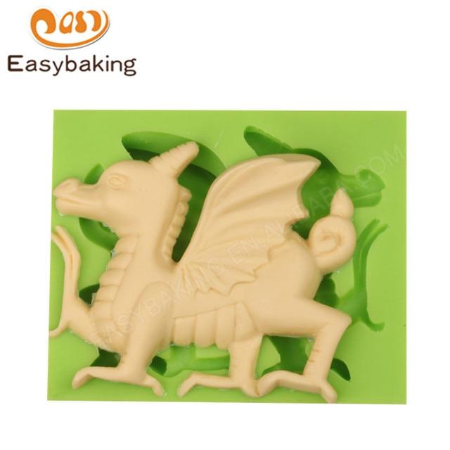 Fabelwesen Welsh Drachen Kuchen Fondant Kuchen Dekorieren Mould