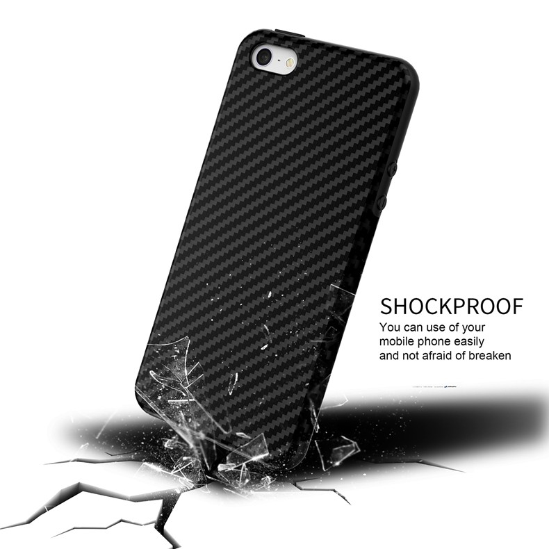 Luksusowe Elegent Wysokiej Jakości Włókna Węglowego Miękki Futerał Dla iPhone 5 5S SE Skórzana Skóry Tekstury Opon 3D Obrońca Pokrywa Dla iPhone SE 3