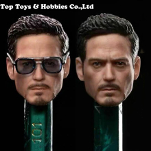 6Male Action Figure Accessory 1/12  Iron Man Tony Head Sculpt with glasses head Carved Model For 6 Male/man Action Figure Body цена