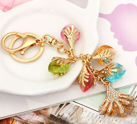 Hot sale crystal rhinestone  keychain/korean luxury jewelry bag charms/chaveiro/llaveros women/porte clef strass/valentine gift