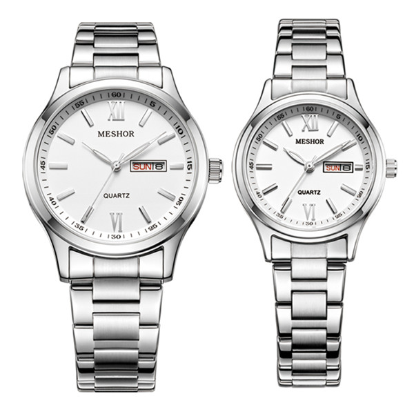 (MESHOR) fashion leisure steel watch with a quartz couples MS.5019M.16.116 / MS.5019L.16.116