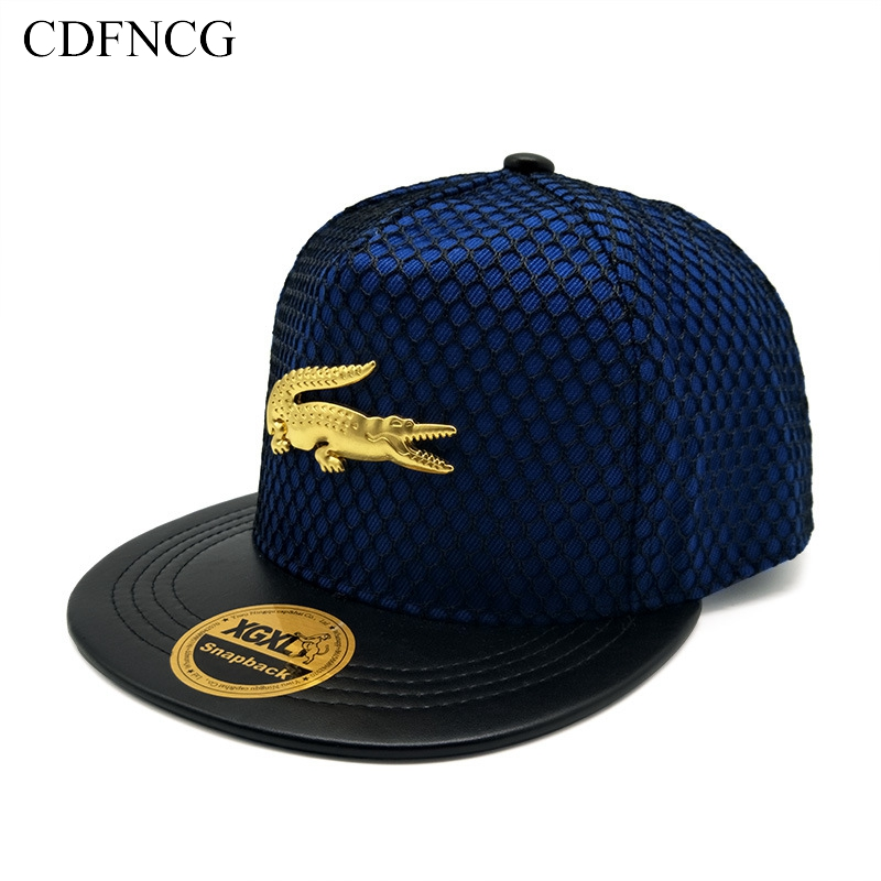 CDFNCG 2019 Fashion Hip Hop   Baseball     Cap   Casual 3D Crocodile Sun Dad Hat for Men Women Streetwear Outdoor BBOY Snapback Muts