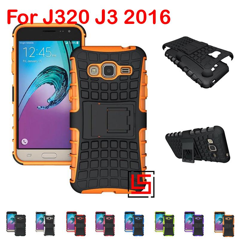 Armor Rugged Hybrid Hard PC Plastic TPU Soft Silicone ShockProof Phone Case Cover Bag For Samsung Sansung Galaxy <font><b>J3</b></font> J320 <font><b>2016</b></font> image