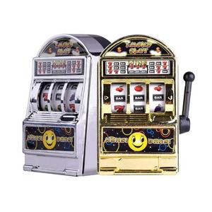 Mini Palm Slot Machine Toy Unisex One-arm Bandit Toy Decompressed Money Box Toy Kid Casino Jackpot Fruit Fun Toy Gift