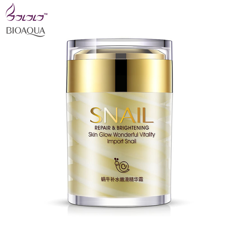 BIOAQUA Brand Snail Essence Face Cream Collagen Moisturizer Facial Ageless Anti Winkles Whitening Day and Night Creams Skin Care