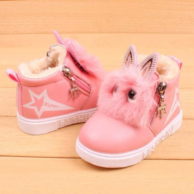 Children Fashion Cartoon Zipper Boots Boys Girls Sneaker Kids Winter Warm Baby Casual Shoes Tenis Infantil 1