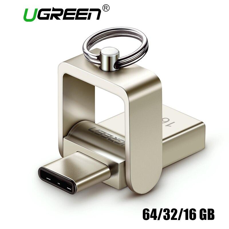 Ugreen USB Flash Drive USB 3.0 C 64 32 gb Pendrive OTG Para Samsung Galaxy S9 Plus Nota 9 Para xiaomi Redmi5 Memory Stick Pen Drive