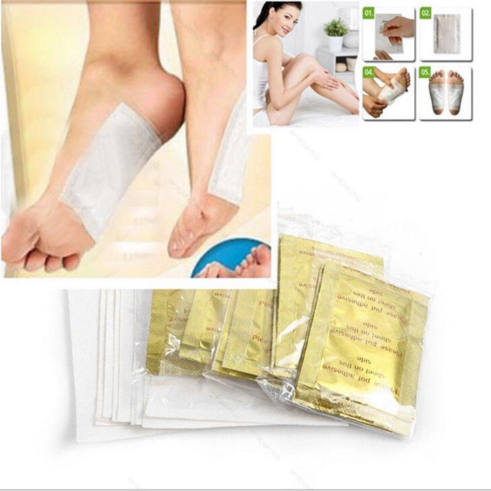 10 PCS Foot Pads Ginger Salt Gold Patch Premium Detox Organic Herbal Cleansing Health Care Foot Care Tool Droping shipping Hot стоимость