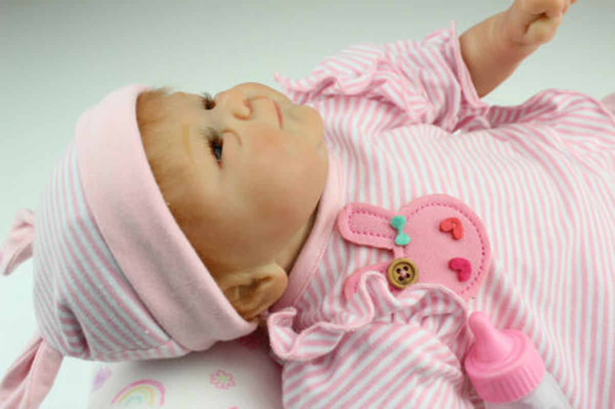 40cm Reborn Baby Doll Nursery Bebe16'' Silicone Vinyl Magnetic Pacifier Kid Gift Toys for Children Baby Dolls Toddler Boy Toys