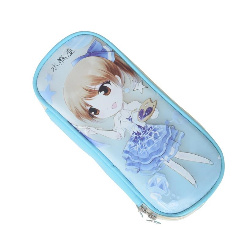 1pcs new Kawaii Girl School Pencil Case Large Capacity Pencil Bag PU Leather case For Children Student Pen Box school Supplies цена