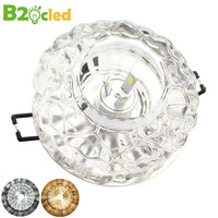 Easy To Install 220V 3W High Quality Modern Crystal Ceiling Lamp White Warm White Colorful Corridor